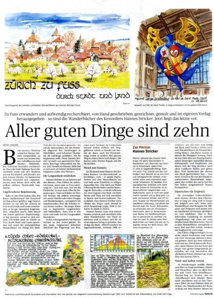 Wanderbücher Hannes Sticker Ostschweiz am Sonntag